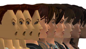 lara croft faces