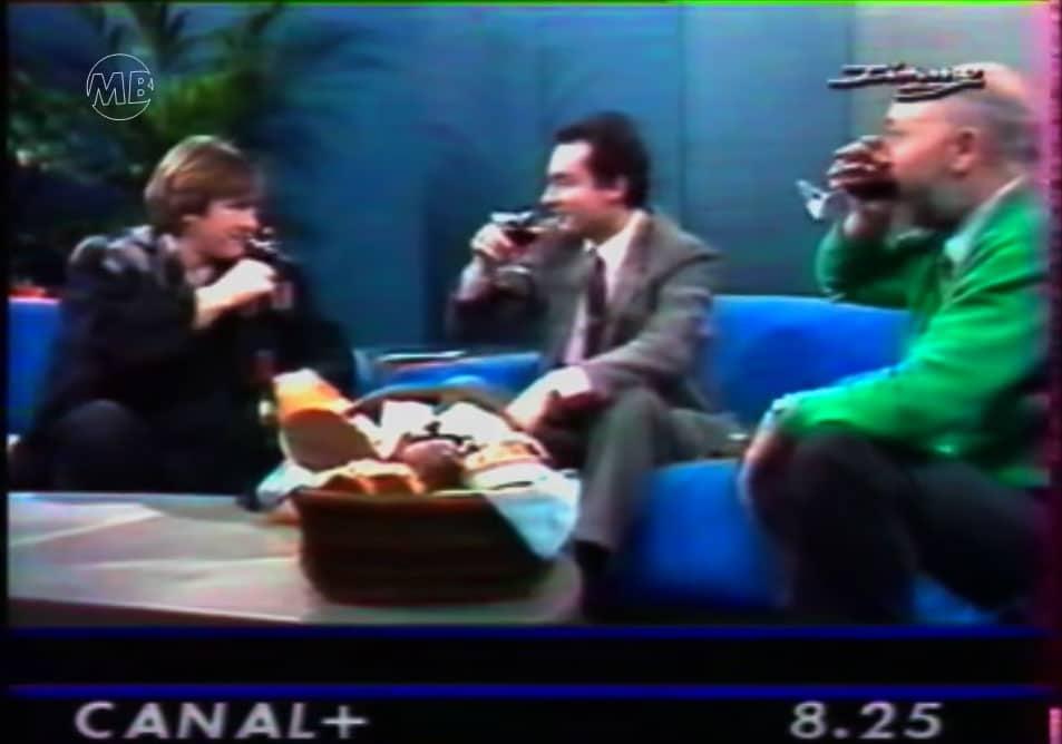 Matinale du jour d'ouverture de Canal+, Michel Denisot en compagnie de Michel Depardieu & Jean-Pierre Coffe