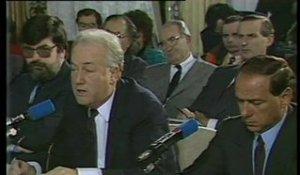 Hersant  et Berlusconi