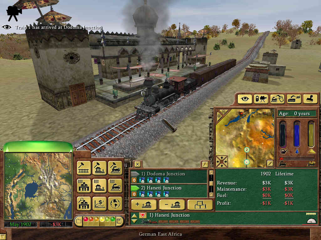 Railroad Tycoon 3 gameplay