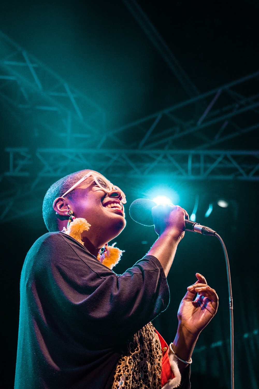 Cécile McLorin Salvant lors du Saint-Émilion jazz Festival 2018
