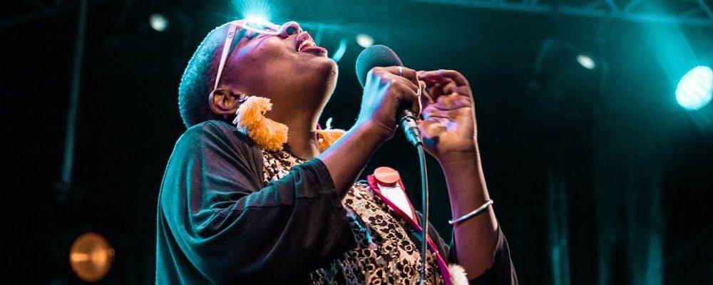 Cécile McLorin Salvant lors du Saint Emilion Jazz Festival 2018